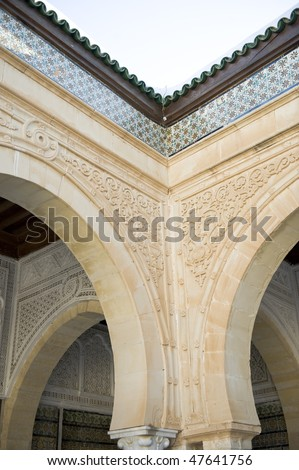 The Details of Great Mosque of Kairouan, Tunisia, africa - stock photo