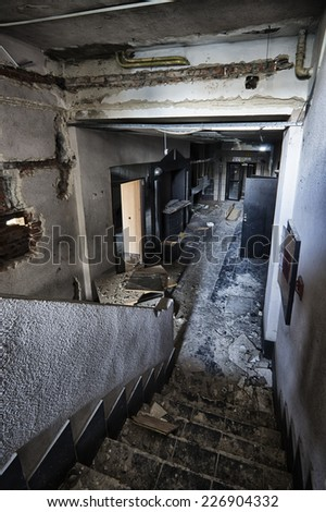 The devastated and abandoned room