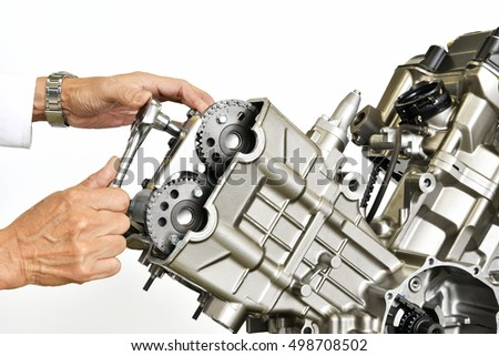 The development of motorcycle engine