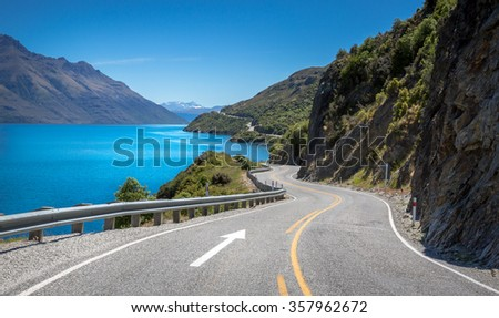 The Devil's Staircase view point, Queenstown / New Zealand - stock photo