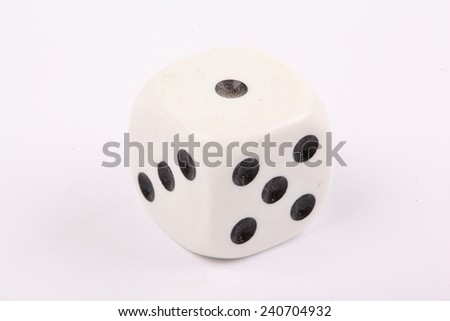 The dice are randomly/ Dice on white background - stock photo