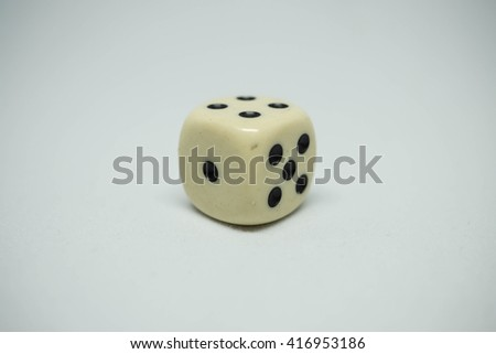 The dice with isolated background.