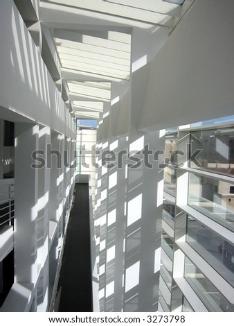 The Diffusion of Light into Indoor Space - stock photo
