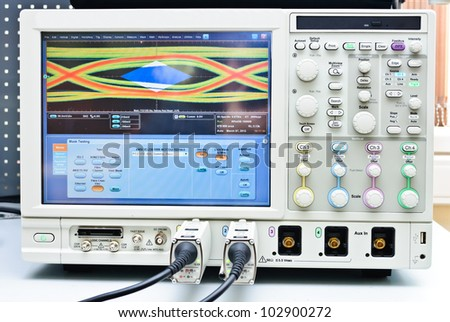 The digital oscilloscope. Close-up Photos - stock photo
