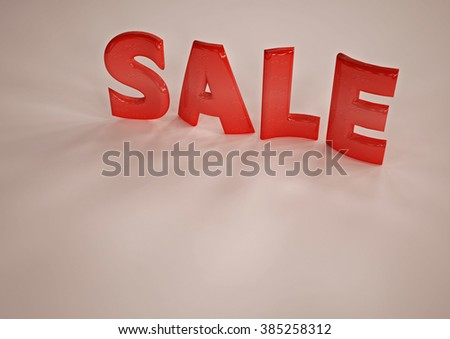 The dimensional word sale on a background