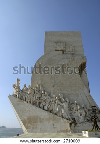 The Discoveries monument in Lisbon, dedicated to all of the great Portuguese explorers and scientists