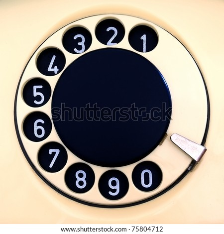 The disk type-setting device of old phone - stock photo