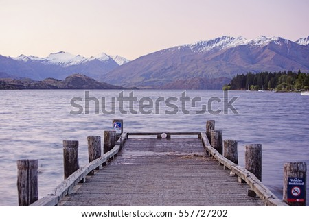 The dock at lake wanaka