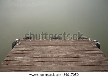 The dock at the marina - stock photo