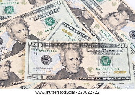 The dollar banknotes as a background close-up - stock photo