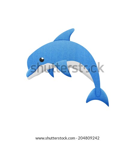the dolphin cartoon is fish in underwater to sea - stock photo