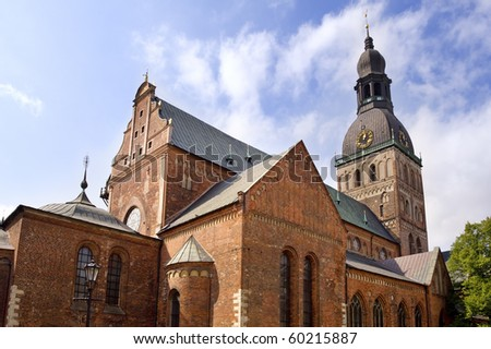 The Dome Cathedral (Old Town, Riga, Latvia) - stock photo