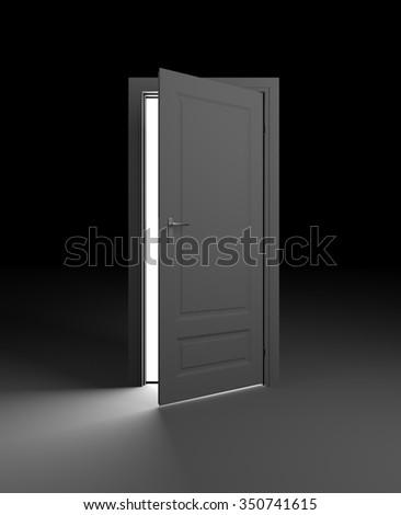 The door ajar and ray of light on the floor & Door Ajar Ray Light On Floor Stock Illustration 350741615 - Shutterstock