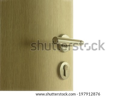 The door open on isolated white background