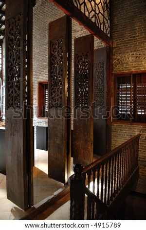 The door way of traditional Chinese house - stock photo
