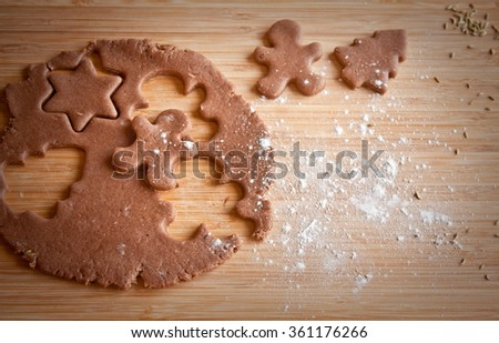The dough for gingerbread  - stock photo