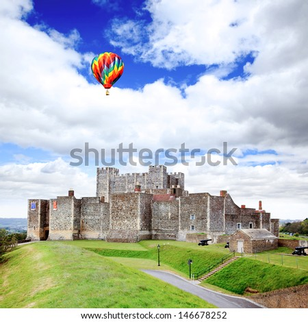 The Dover Castle in south east England UK  - stock photo