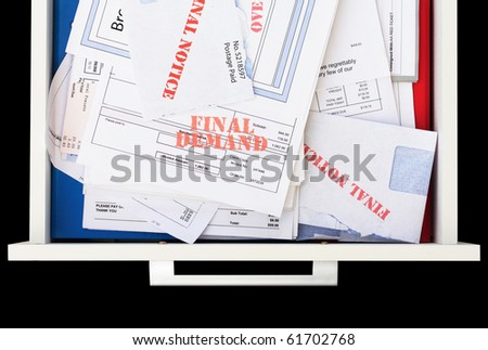 The Dreaded Bill Drawer - stock photo