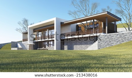 The dream house - stock photo