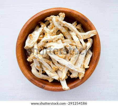The Dried vegetable white celery. - stock photo