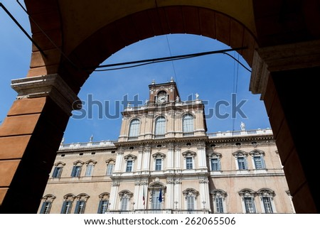 The Ducal Palace in Modena, Italy - stock photo