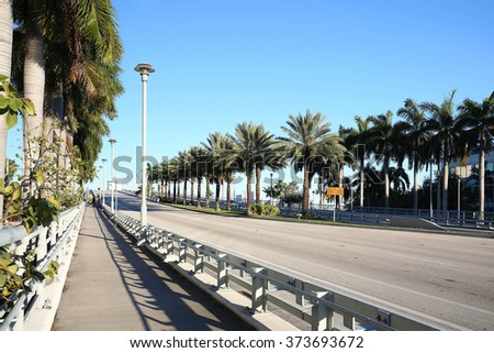 The E. Clay Shaw Drawbridge aka the Southeast 17th Street Causeway Bridge in Fort Lauderdale, Florida, USA. One of a few bridges that allow access to Fort Lauderdale's Beach from the mainland.  - stock photo