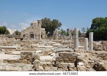 The early christian basilica - stock photo