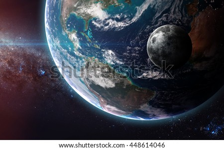 The Earth from space showing all they beauty. Extremely detailed image, including elements furnished by NASA. a - stock photo