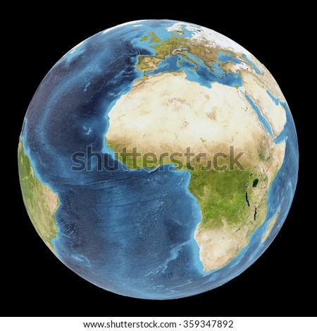 The Earth / Gaia / Terra - View of the Atlantic ocean - Elements of this image furnished by NASA - stock photo