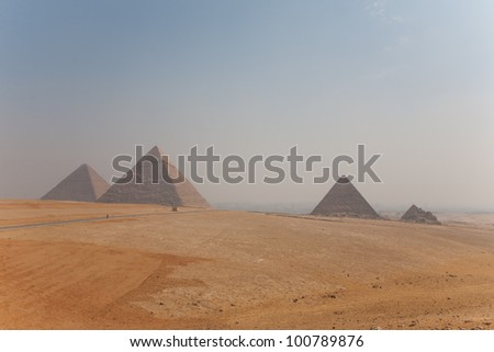 The egyptians pyramids of Cairo.