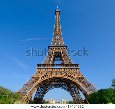The Eiffel Tower and its 300 meters high.