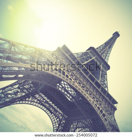 The Eiffel Tower.  Instagram style filtred image - stock photo