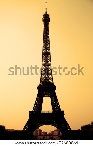 The Eiffel tower sepia toned, Paris, France. - stock photo
