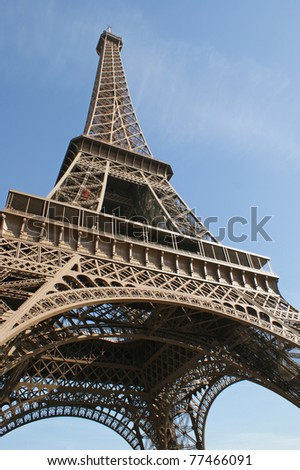 The Eiffel Tower which was built in 1889