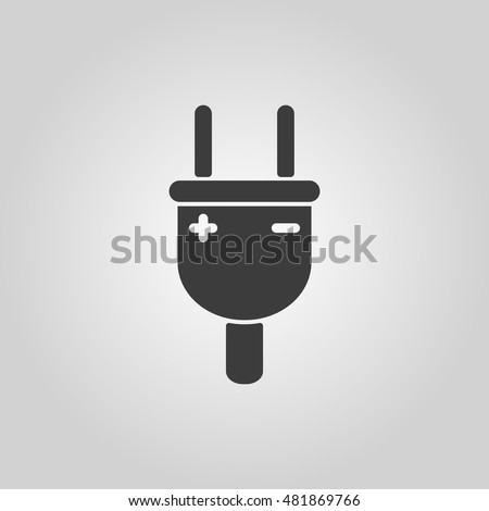 The electric plug icon. Electric plug symbol. Flat  illustration