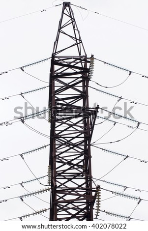 Silhouette Power Lines Electric Pylons 62361379 on Telephone Equipment Distribution
