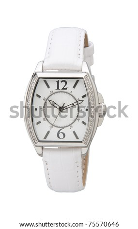 The elegance wristwatch decorated by diamond nice for you - stock photo