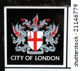 The emblem of the city of London in the UK - stock photo