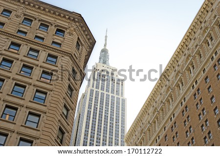 The Empire State Building in New York City. - stock photo