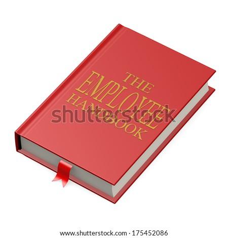The employee handbook - stock photo