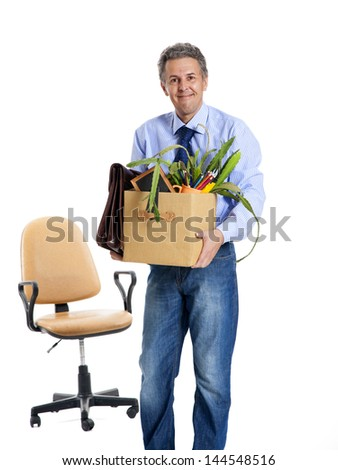 the employee was dismissed for immoral conduct - stock photo