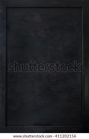 The empty black chalkboard, background texture
