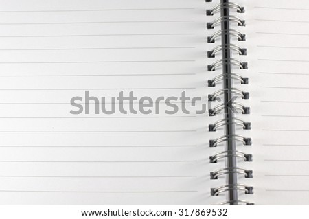the empty notebook, ready to note or work