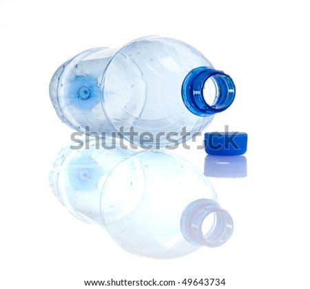 The empty plastic bottle. Isolated - stock photo