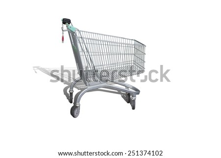 The empty shopping cart ready to be loaded
