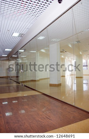 the empty shopping center.Crisis.free trade places - stock photo