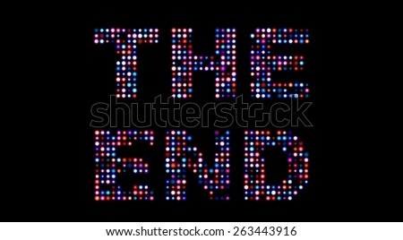 The end led sign