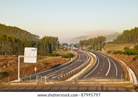The end of a highway - stock photo