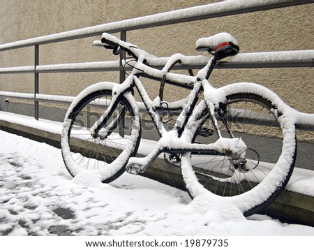 The end of biking season - stock photo
