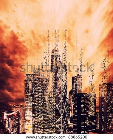 The end of the world - stock photo